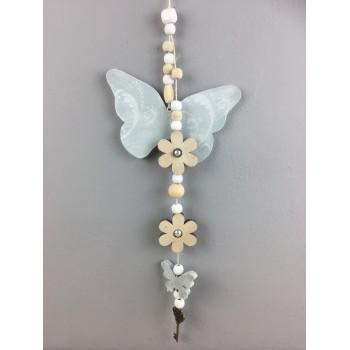 Suspension Papillon vert pâle