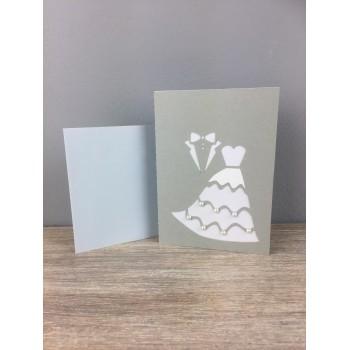 Carte de mariage grise
