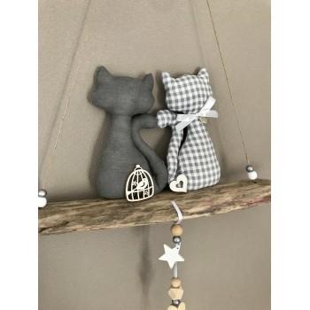 Chats amoureux gris