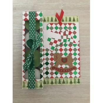 Carte cadeau verte et rouge