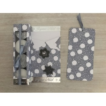 Carte cadeau grise flocons