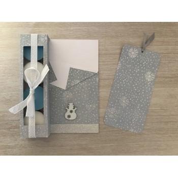 Carte cadeau gris argenté