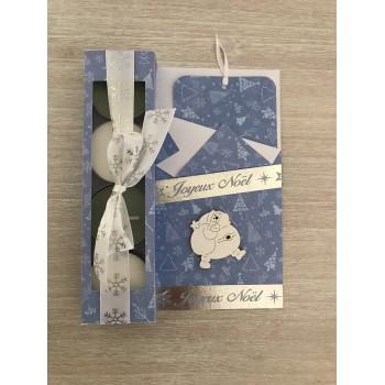 Carte cadeau bleu clair