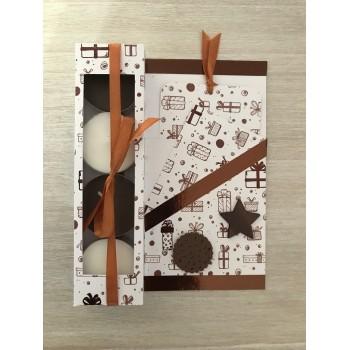 Carte cadeau blanche et brune