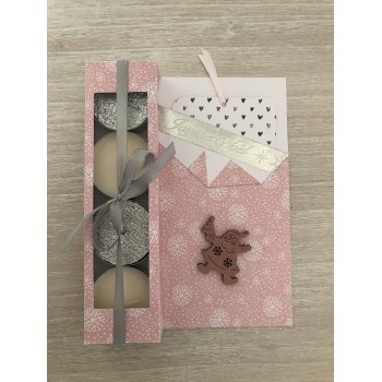 Carte cadeau rose et grise