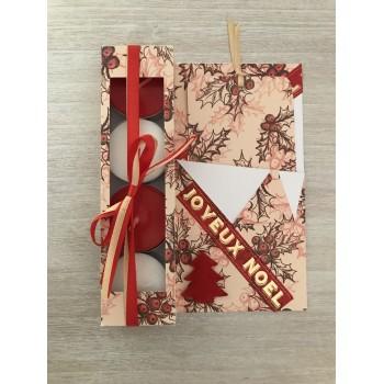 Carte cadeau beige et rouge
