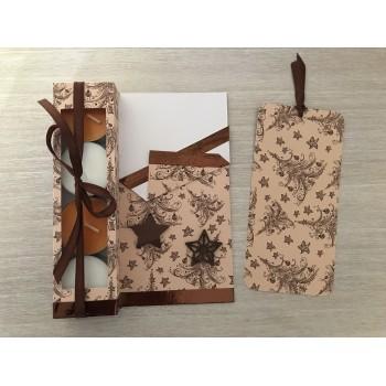 Carte cadeau beige et brune